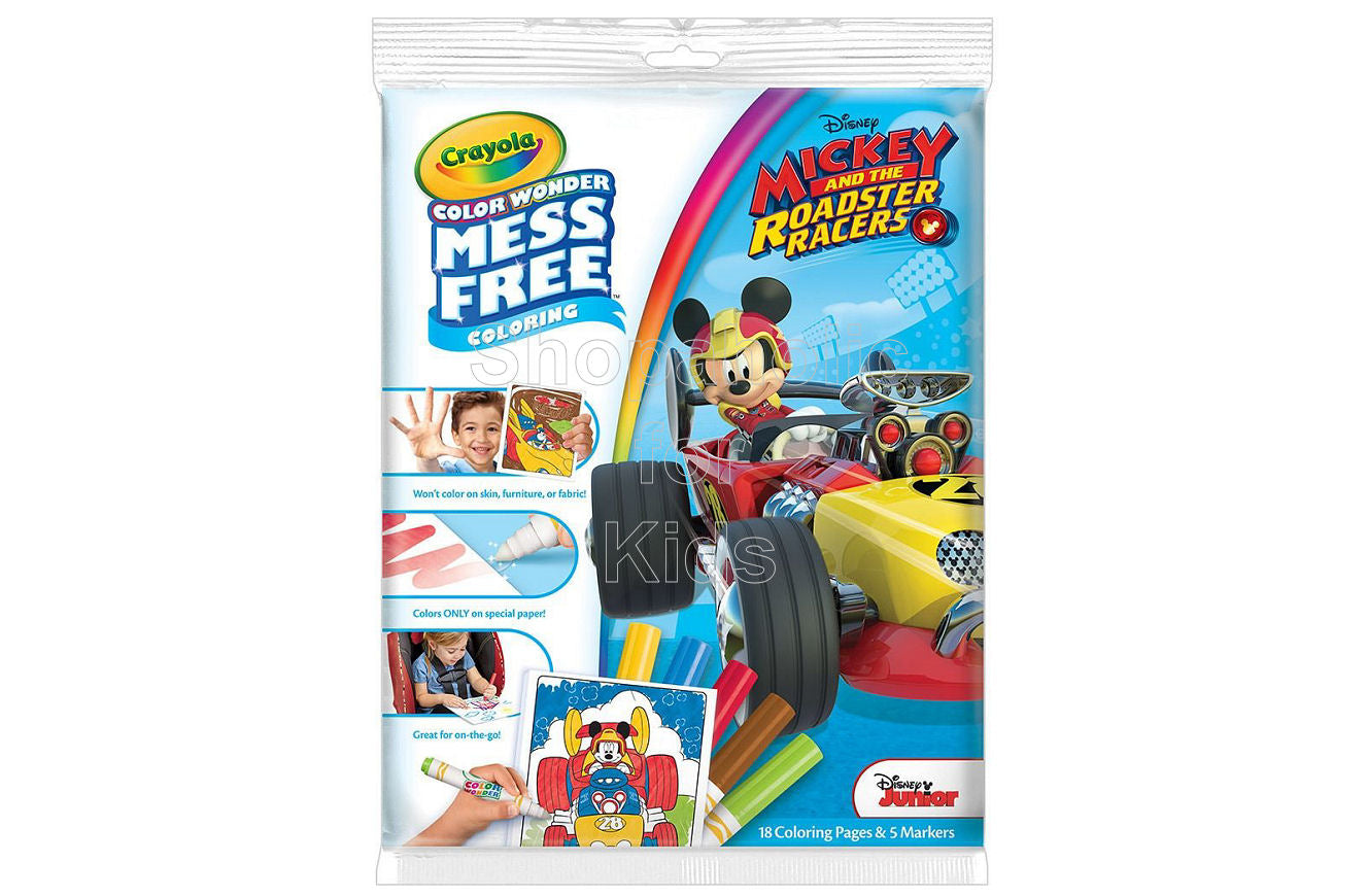 Crayola Color Wonder Coloring Pad & Markers - Mickey Mouse and the Roadster Racers - Shopaholic for Kids