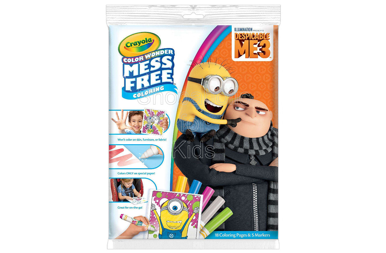 Crayola Despicable Me Color Wonder Coloring Pad and Markers - Shopaholic for Kids