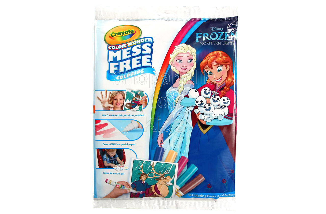Crayola Color Wonder Coloring Pad & Markers - Frozen Northern Lights - Shopaholic for Kids