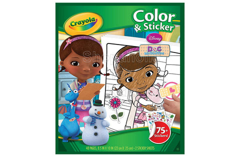 Crayola Doc McStuffins Color 'n Sticker Books