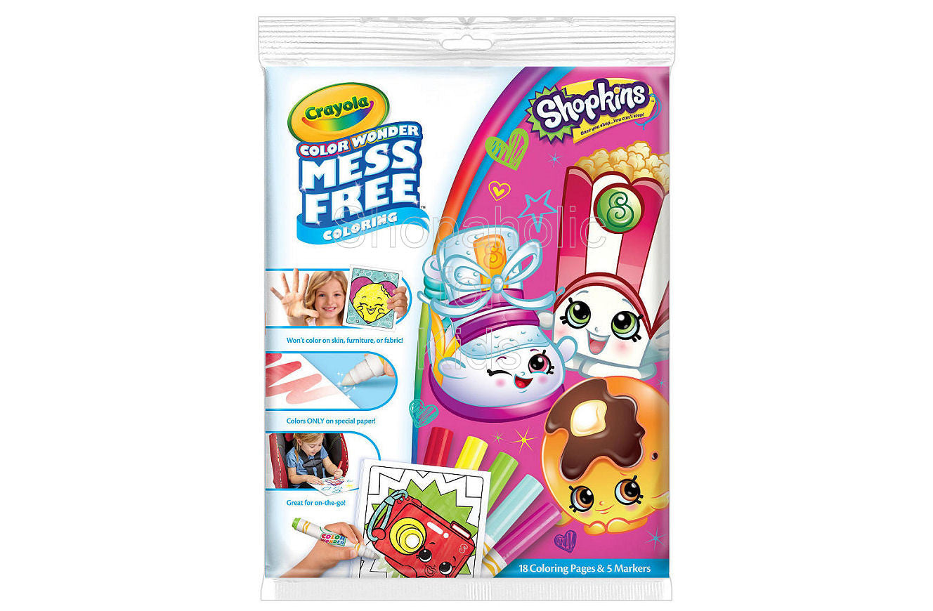 Crayola Mess Free Color Wonder Coloring - Shopkins - Shopaholic for Kids