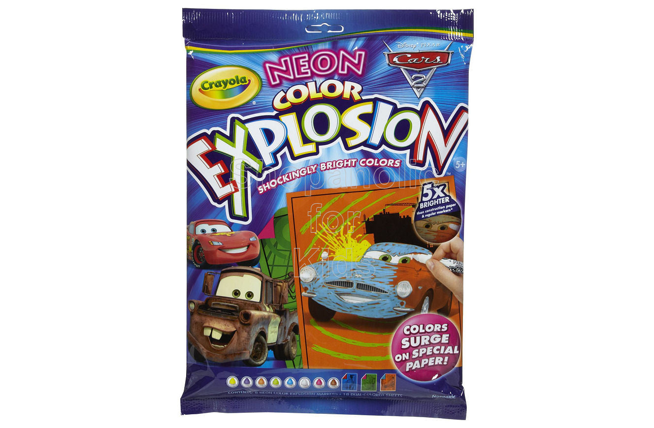 Crayola Neon Explosion Disney Cars II | Shopaholic for Kids
