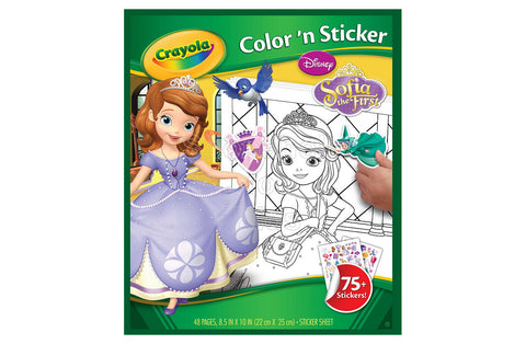 Crayola Sofia the First Color & Sticker Book