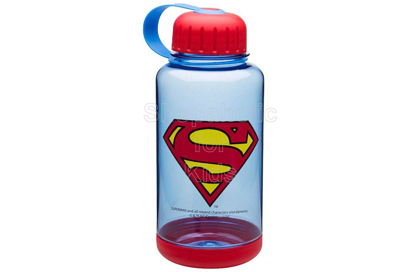 DC Comics Superman Wide-Mouth Water Bottle with Grip Base - Shopaholic for Kids