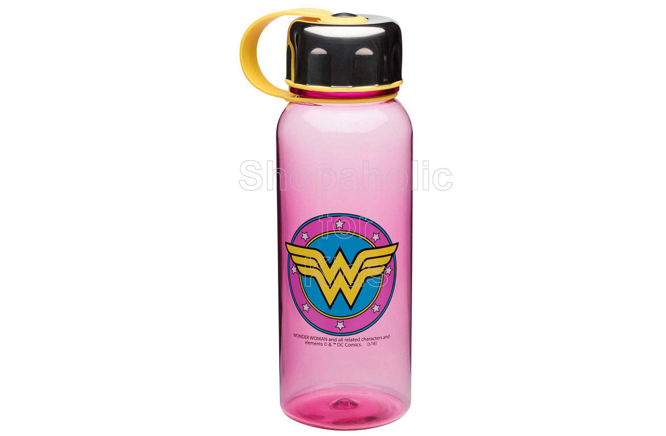 DC Comics Wonder Woman Wide-Mouth Water Bottle with Loop - Shopaholic for Kids