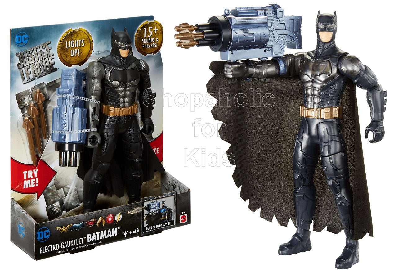 DC Comics Justice League Electro-Gauntlet Batman Figure with Lights & Sounds - Shopaholic for Kids