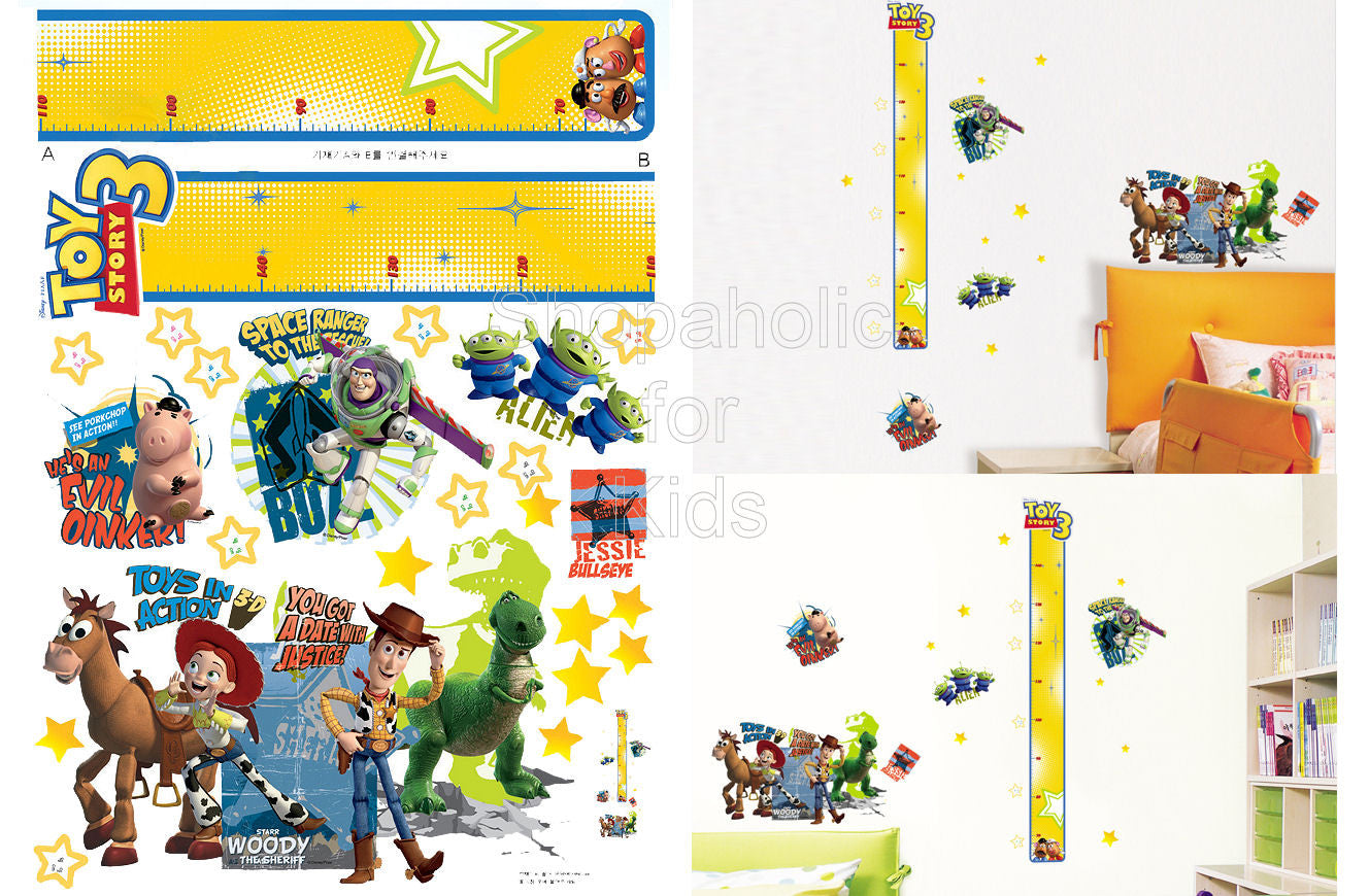 Toy Story Height Chart Wall Sticker Part 42