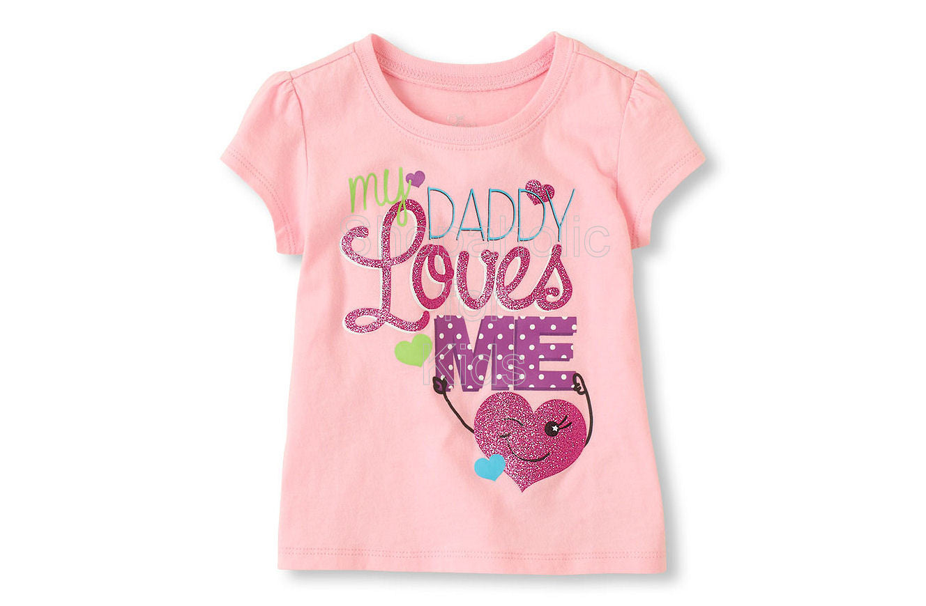 Children's Place Dad Loves Me Graphic Tee - Shopaholic for Kids