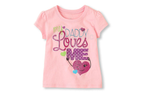 Children's Place Dad Loves Me Graphic Tee