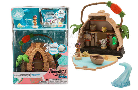 Disney Animators' Littles Motunui Island Surprise Feature Playset - Moana