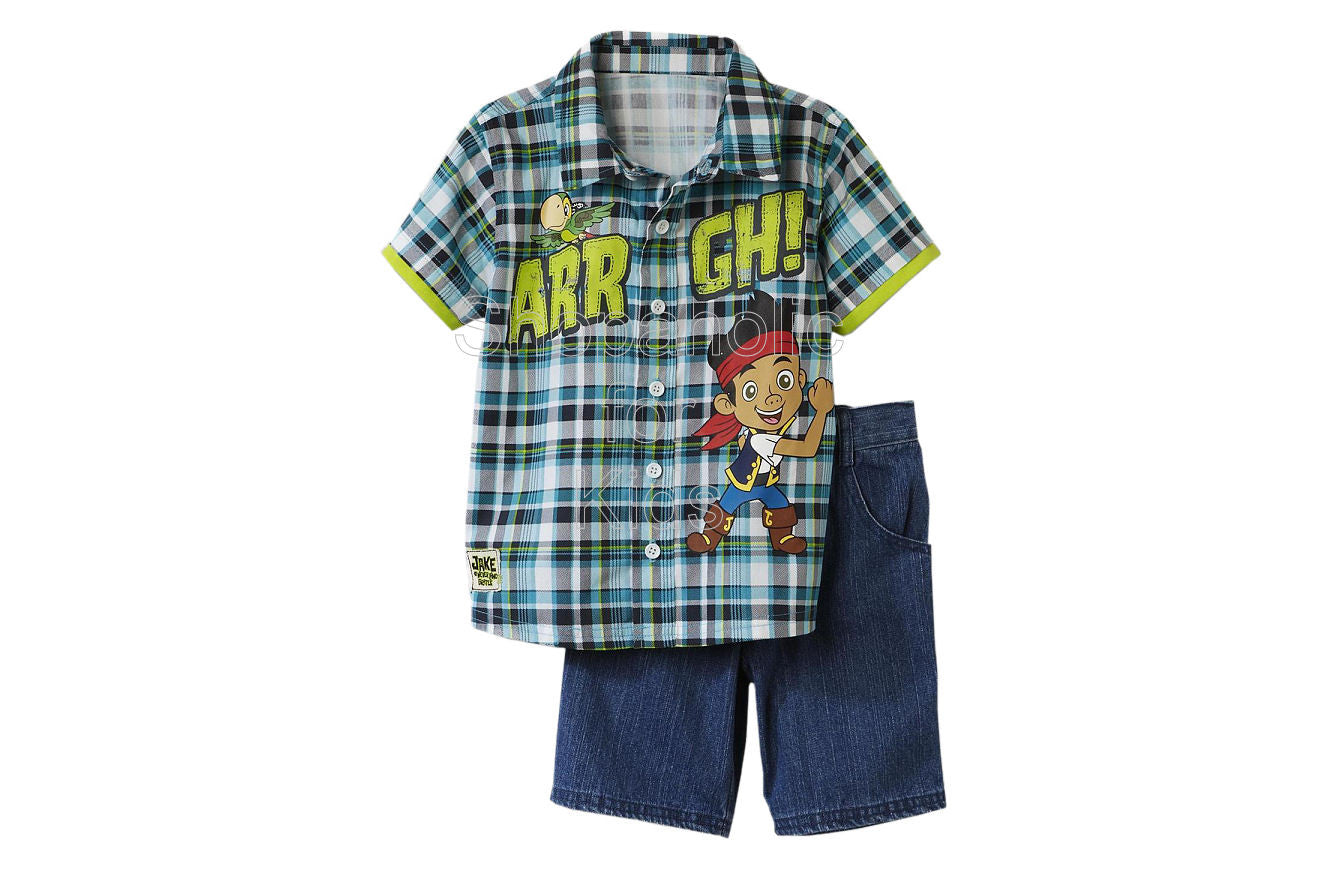 Jake & the Neverland Pirates Polo Shirt & Shorts - Teal