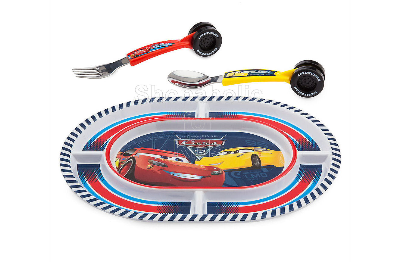 Disney Cars 3 Plate and Flatware Set - Shopaholic for Kids