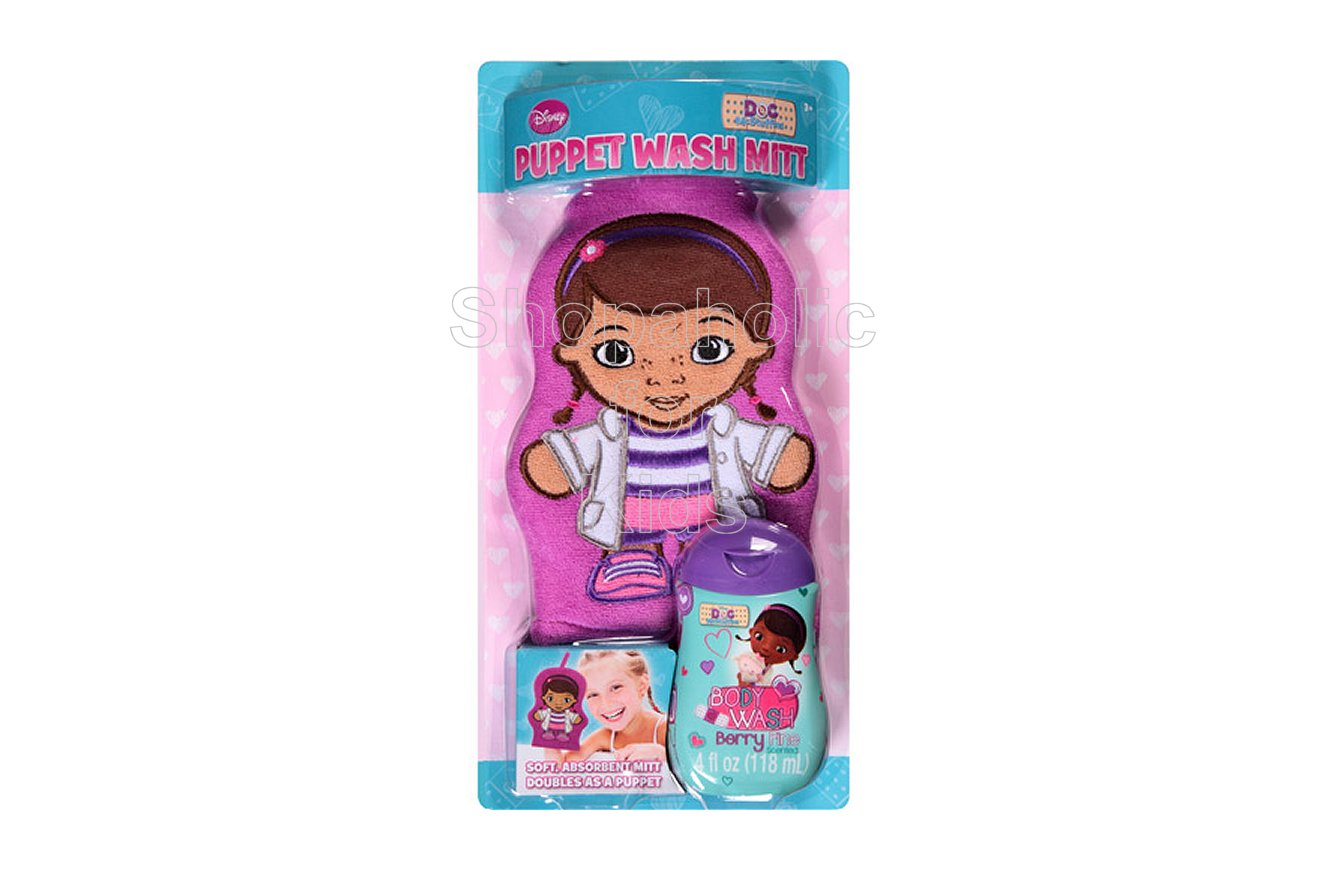 Disney Doc McStuffins Berry Fine Wash Mitt Puppet Bath Gift Set, 2 pc - Shopaholic for Kids