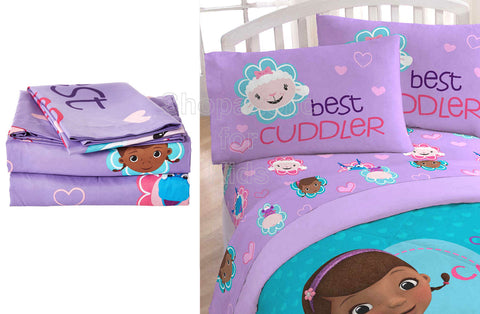 Disney Doc McStuffins Cuddles Care 3 Piece Twin Sheet