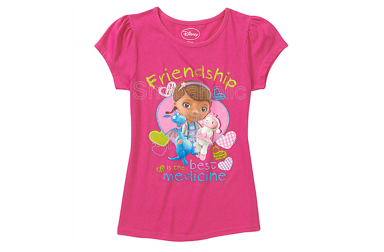 ad2428796c72 Disney Doc Mcstuffins Graphic Tee Color  Fuschia