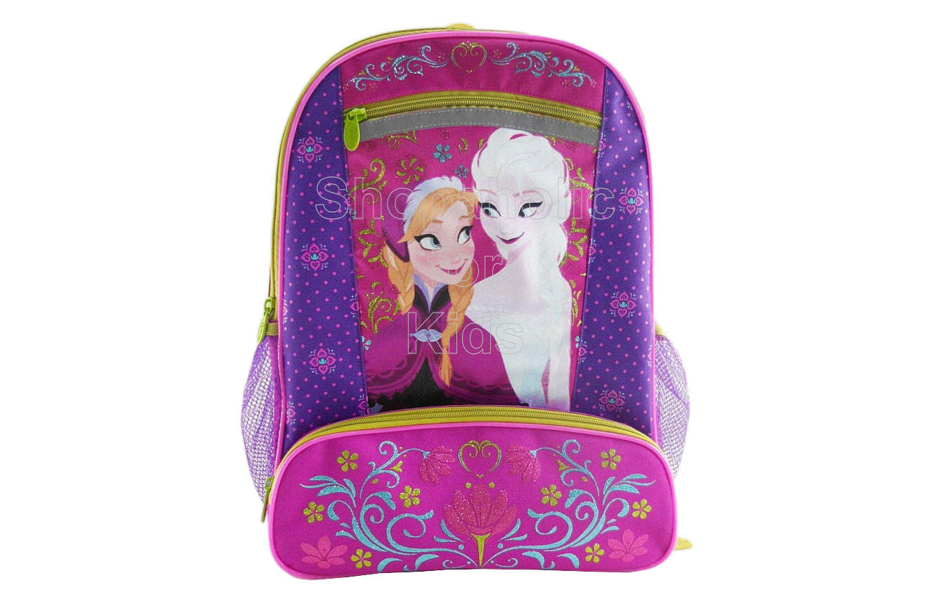 Disney Frozen 16 inch Backpack - Berry Floral - Shopaholic for Kids
