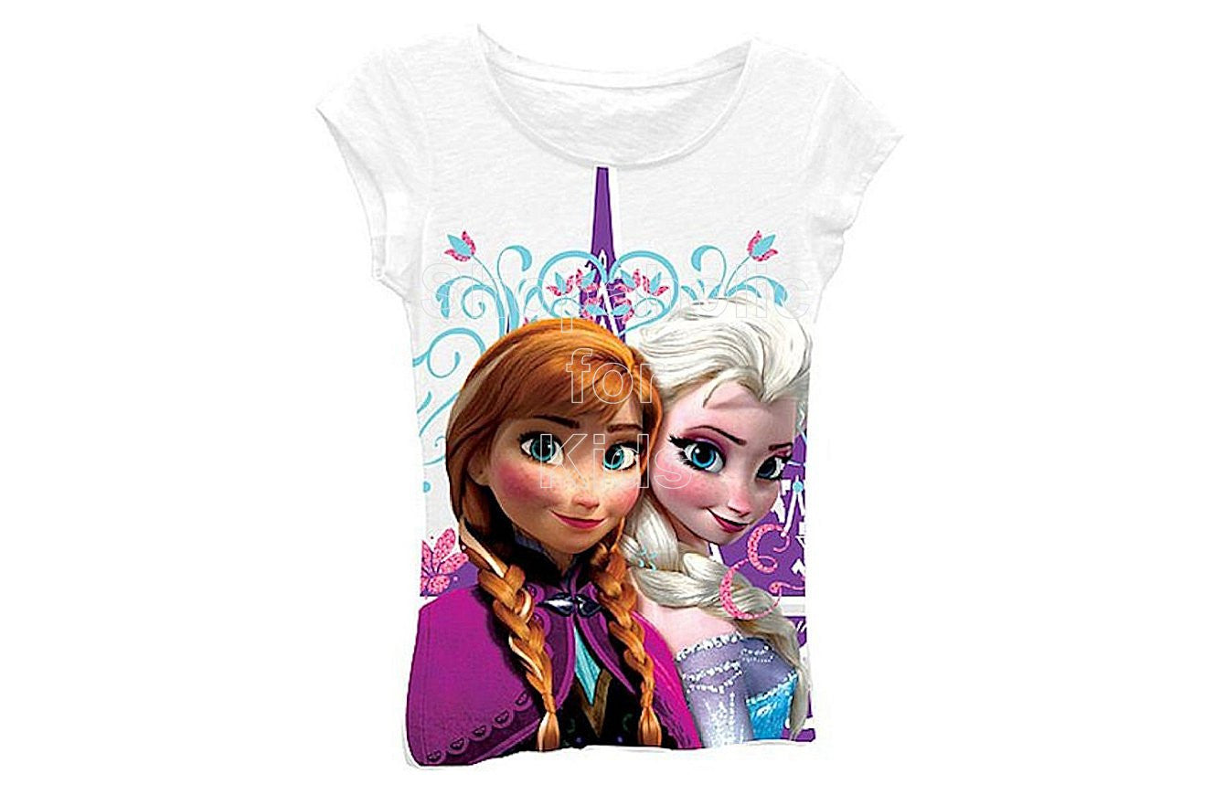 Disney Frozen Anna & Elsa Graphic Tee - Shopaholic for Kids