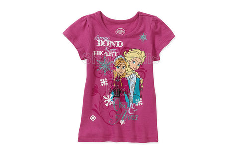 Disney Frozen Elsa and Anna Strong Bond and Heart T-Shirt