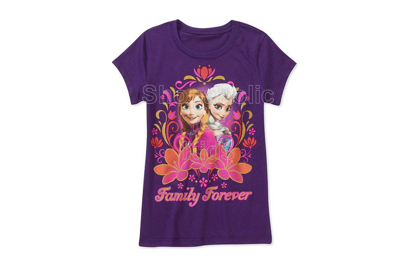 Disney Frozen Family Forever Girl's Graphic Tee - Shopaholic for Kids