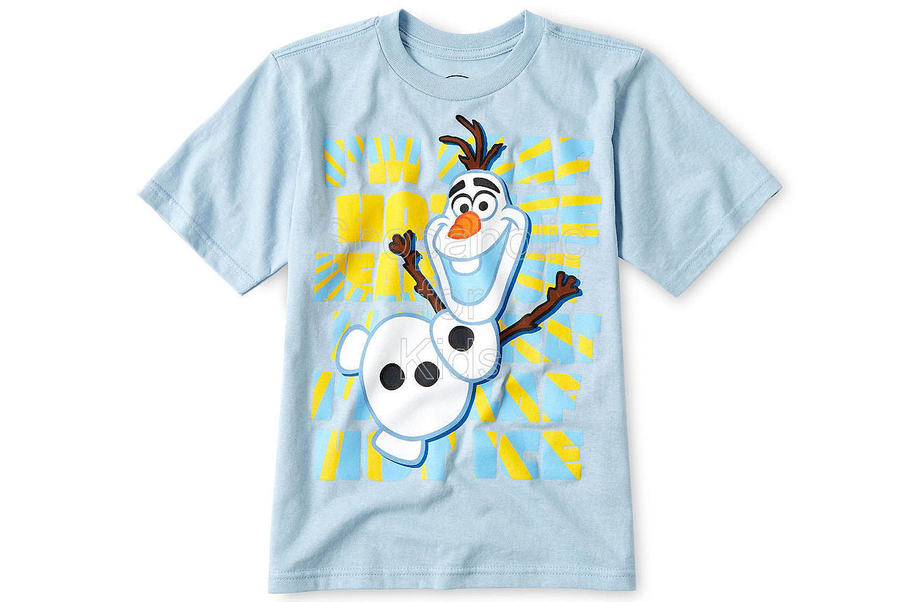 Disney Frozen Olaf Graphic Tee Blue - Shopaholic for Kids