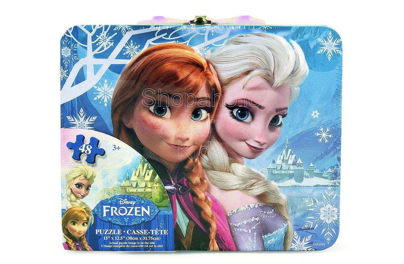 Disney Frozen Puzzle in Tin with Handle (48-Piece) - Shopaholic for Kids