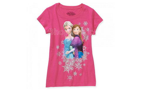Disney Frozen Snow Girls Graphic Tee - Fuschia