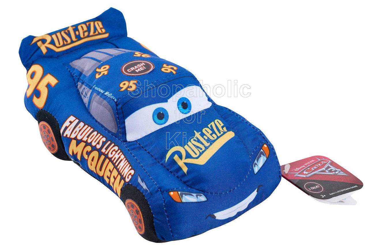 Disney Pixar Cars 3 Crash Ems Plush Character Car Fabulous Lighting McQueen, Blue Rust-eze