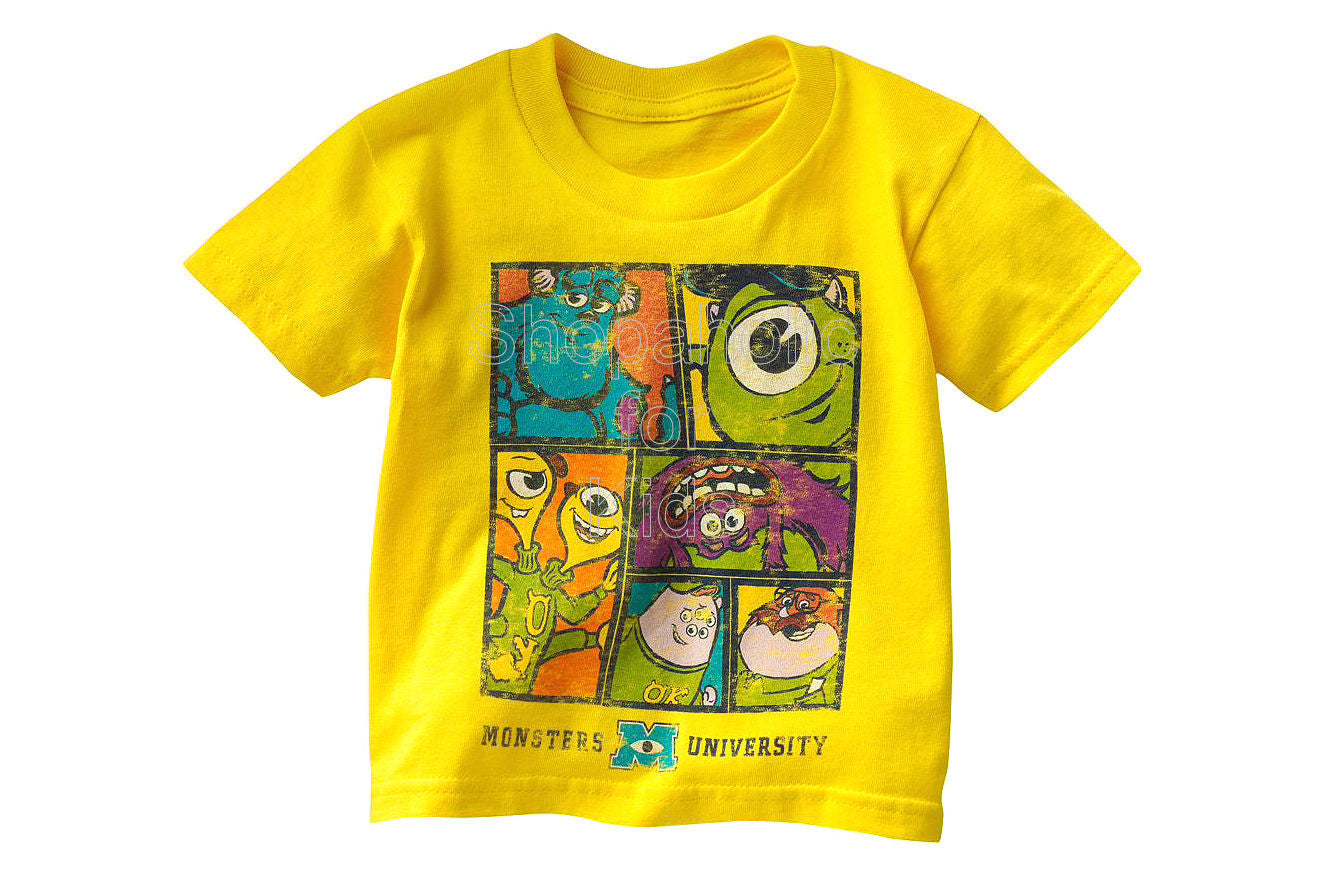 Disney/Pixar Monsters University Character Tee - Toddler Yellow - Shopaholic for Kids