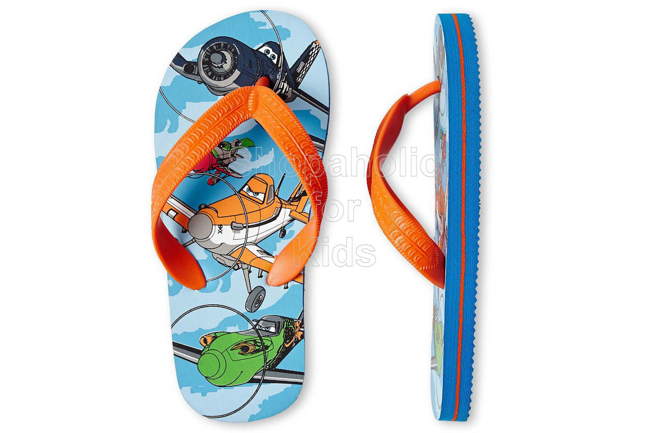 Disney Planes Flip Flops - Boys (Orange)