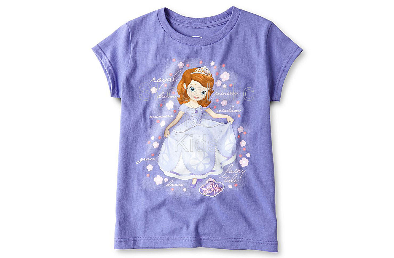Disney Sofia Graphic Tee - Girls Purple - Shopaholic for Kids