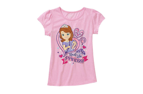 Disney Sofia the First Graphic Tee  Color: Light Pink