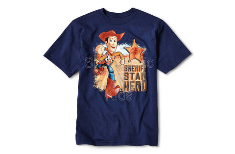 Disney Toy Story Woody Star Hero Graphic Tee