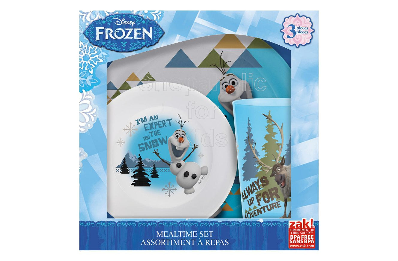 Disney Frozen 3 Piece Dinnerware Set - Olaf - Shopaholic for Kids