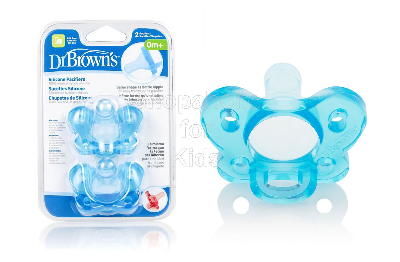Dr Brown's Silicone Pacifiers - Blue - Shopaholic for Kids