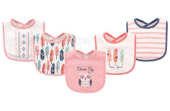 Hudson Baby Dream Big Owl Bibs 5-Pack