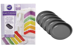 Wilton Easy Layers 6 Inch - 5 Piece Cake Set - Shopaholic for Kids