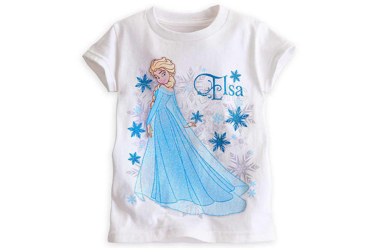 Elsa Tee for Girls - Frozen - White