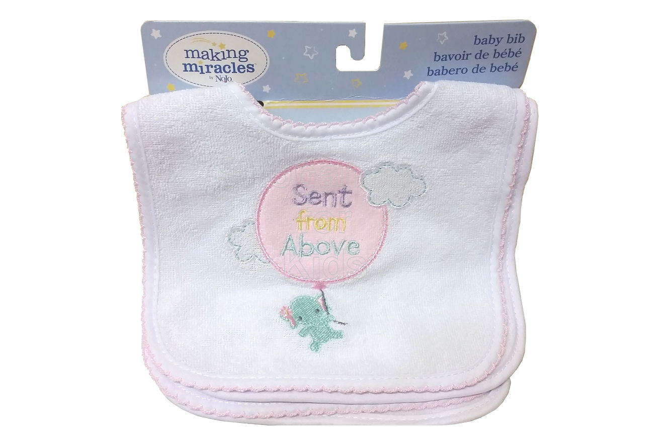 Making Miracles by Nojo Embroidered Bibs, Pack of 4 - Shopaholic for Kids
