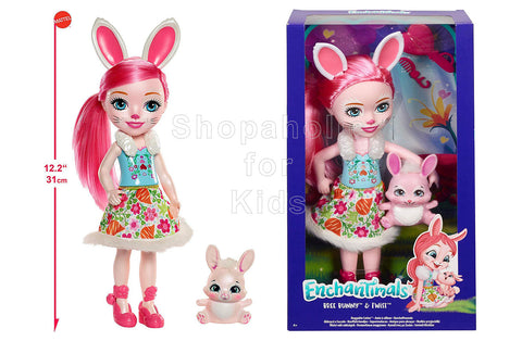Enchantimals Huggable Cuties Bree Bunny Doll and Twist Figure