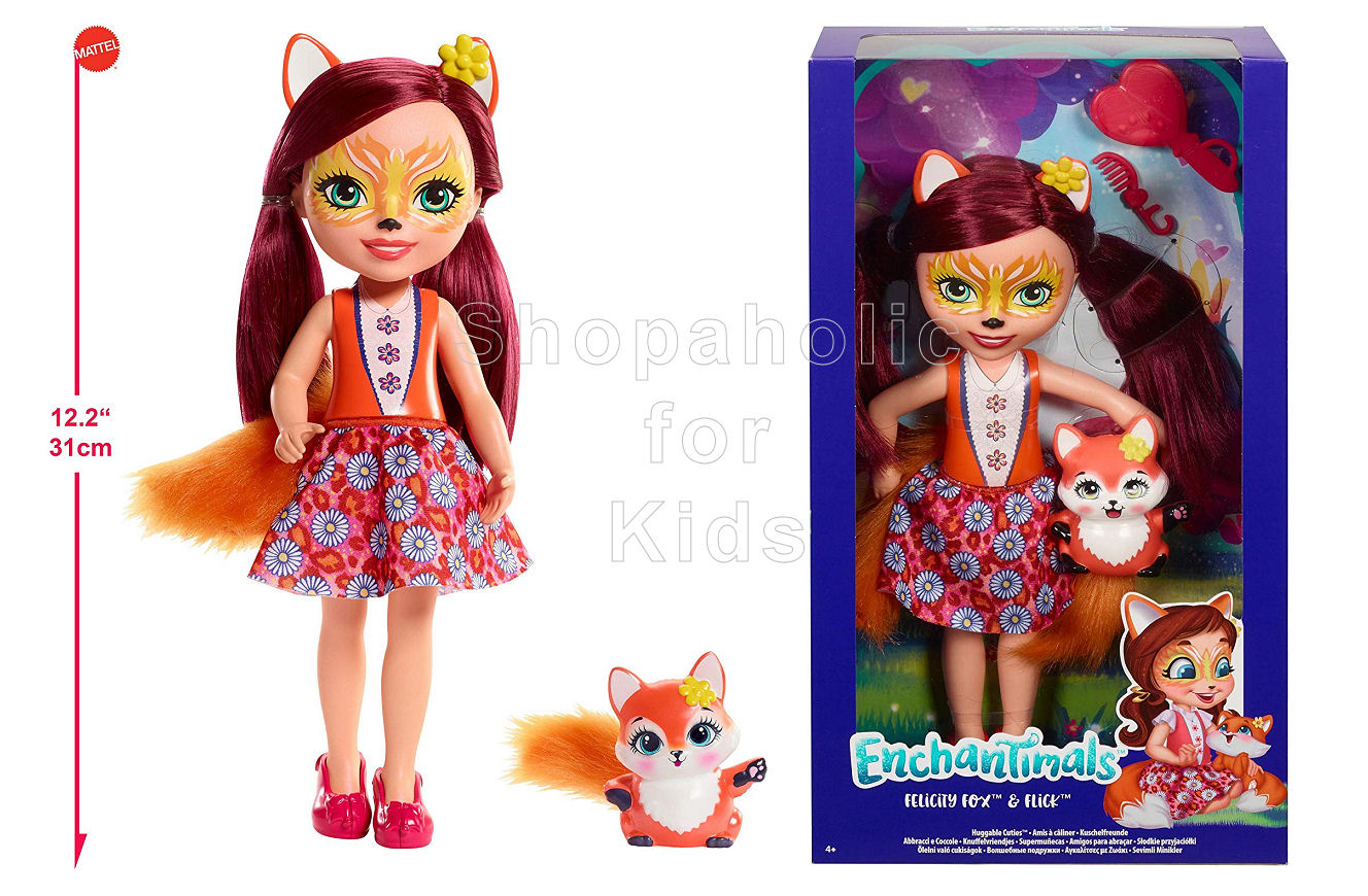 Enchantimals Huggable Cuties Felicity Fox Doll and Flick Figure - Shopaholic for Kids
