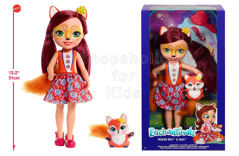 Enchantimals Huggable Cuties Felicity Fox Doll and Flick Figure