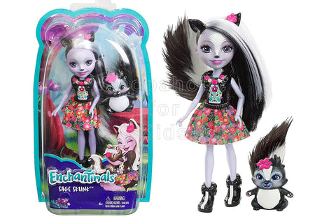 Enchantimals Sage Skunk Doll and Caper