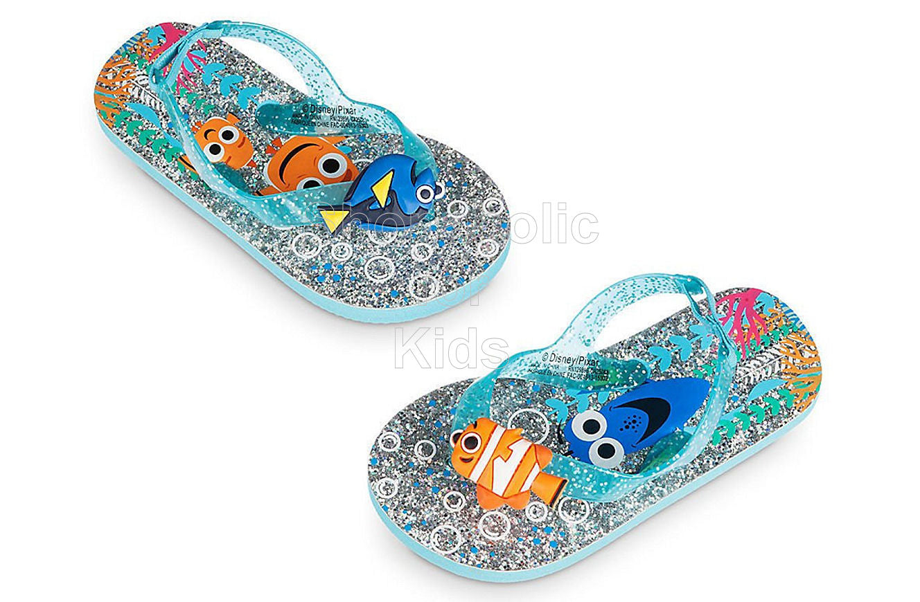 Disney Finding Dory Glitter Flip Flops - Shopaholic for Kids