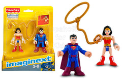 Fisher-Price Imaginext DC Superfriends Superman and Wonder Woman Action Figures