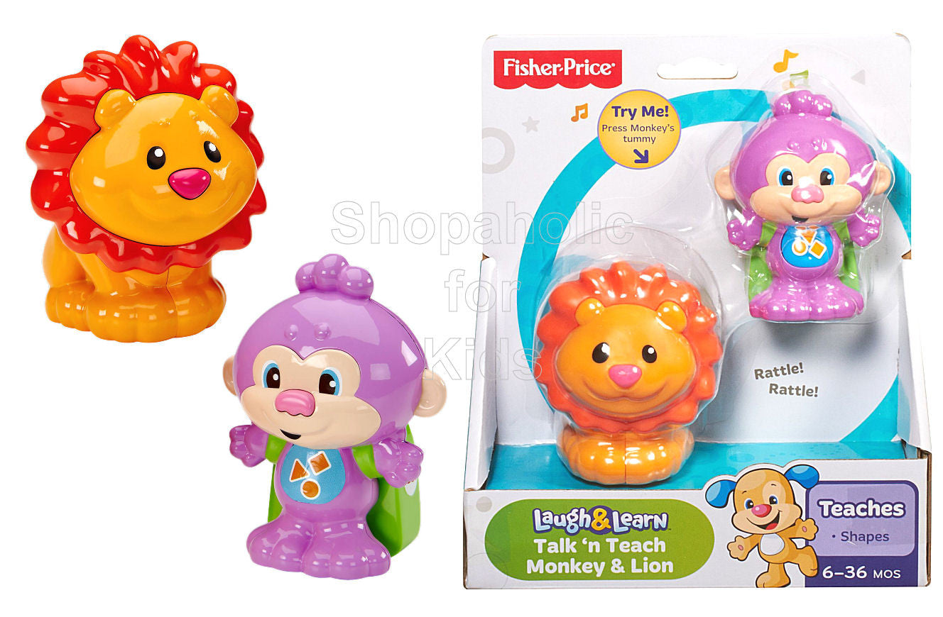 Fisher-Price Laugh & Learn Talk 'N Teach Monkey & Lion - Shopaholic for Kids