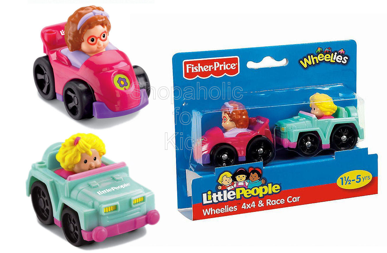 Fisher-Price Little People Wheelies - 4x4 and Race Car