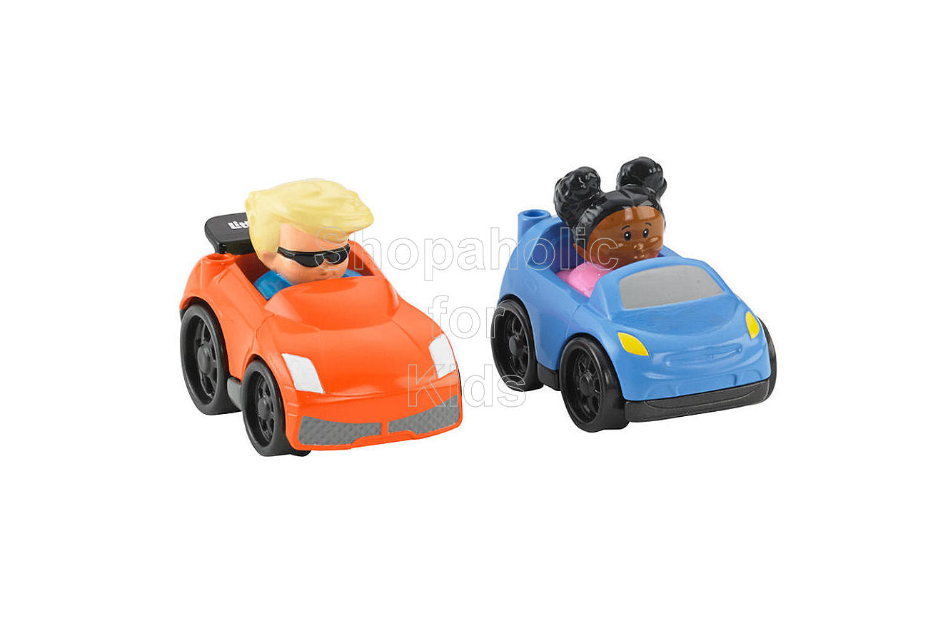 Fisher-Price Little People Wheelies Eddie and Tessa 2-Pack
