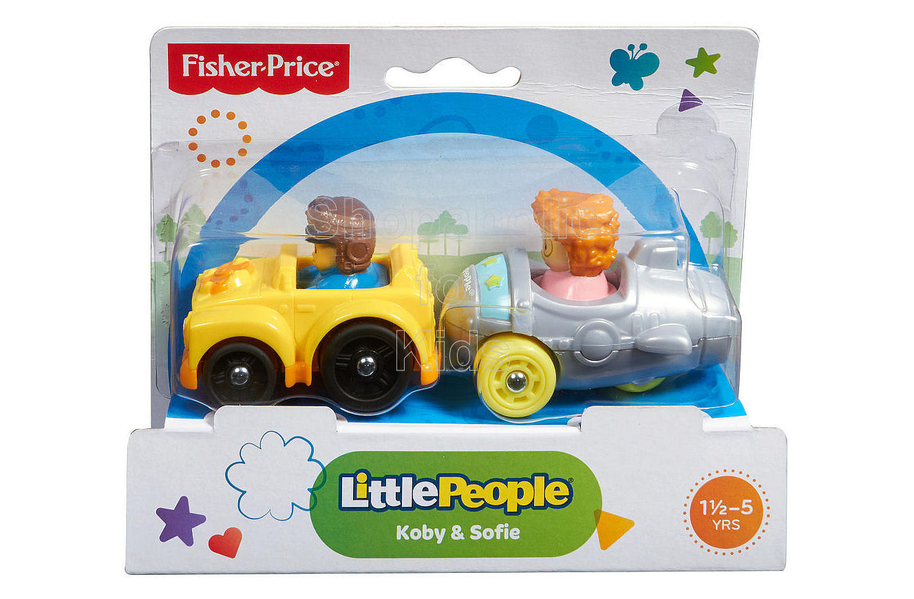 Fisher-Price Little People Wheelies Koby and Sofie 2-Pack - Shopaholic for Kids