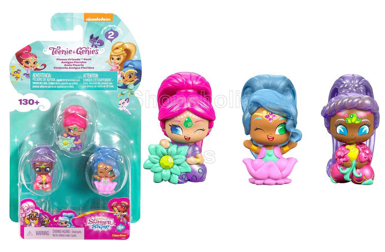 Fisher Price Shimmer Shine Teenie Genies 3 Pack Flower Friends