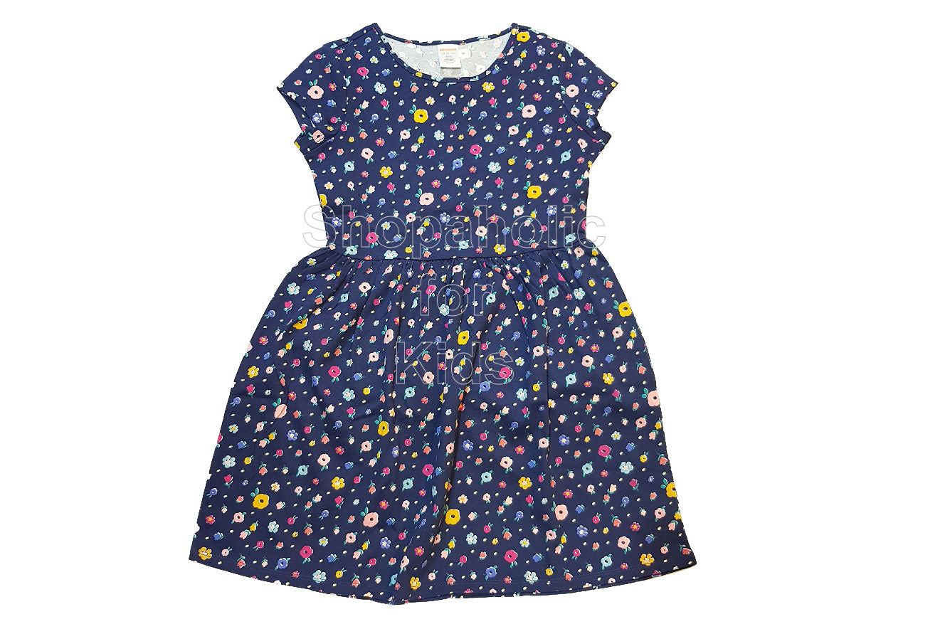 Gymboree Flower Dress Navy - Shopaholic for Kids